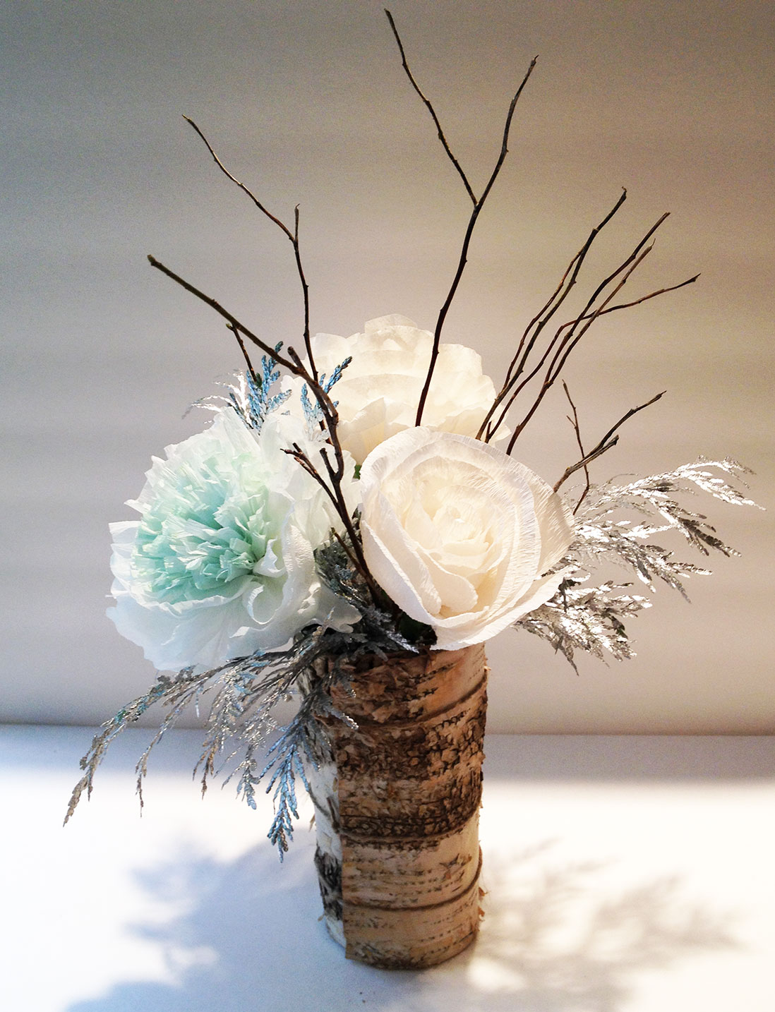 """rustic winter wonderland centerpieces q is for quilter"