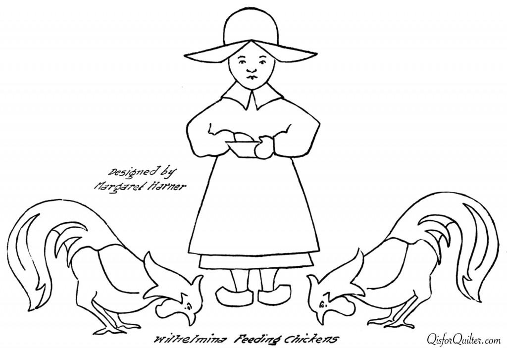 wilhelmina-feeding-chickens
