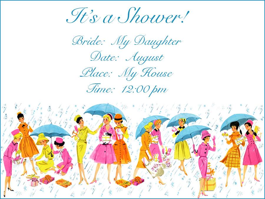 Fabulous Indian Bridal Shower Invitations Df92